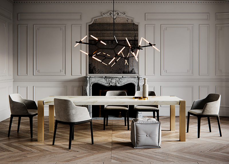 casablanca palladio marble dining table